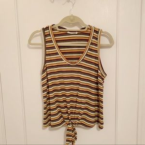 striped tank with tie